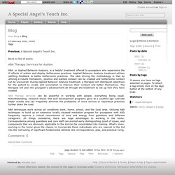 Blog - A Special Angel's Touch Inc.