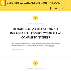 Blog : Où va l'Alliance Renault-Nissan ?