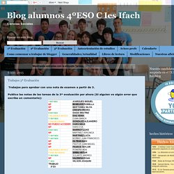 Blog alumnos 4ºESO C Ies Ifach: Tareas