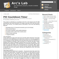 Arc's Lab » Blog Archive » PIC Countdown Timer