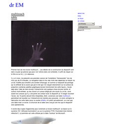 Dr EM » Blog Archive » Multitouch table