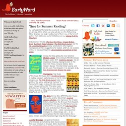 Blog Archive Time for Summer Reading!