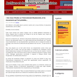 Archives Situationnistes l Blog