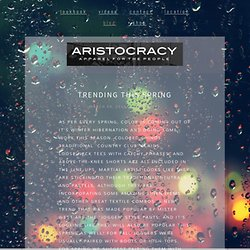 Blog — Aristocracy Apparel