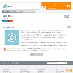 Blog Basics: Copyright and Fair Use