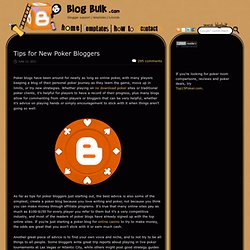 Blog Bulk - Blogger templates and Blog help