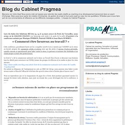 Blog du Cabinet Pragmea