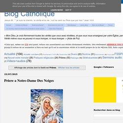 [Blog Catholique] Prières