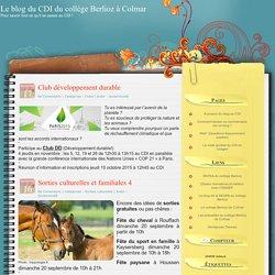 Le blog du CDI du collège Berlioz à Colmar
