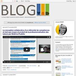 Activité 7.4 - Blog de t@d: compétences du tuteur en ligne