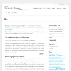Blog - Complexity Science
