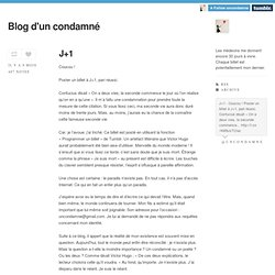 Blog d'un condamné