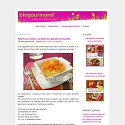 Polenta au safran, carottes aux pétales d'amandes