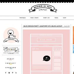 Blog Design : Anatomy of a Blog Layout -DESIGN IS YAY!