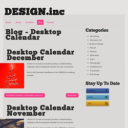 Blog - Desktop Calendar