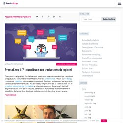Blog ecommerce par PrestaShop