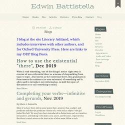 Blog - Edwin Battistella