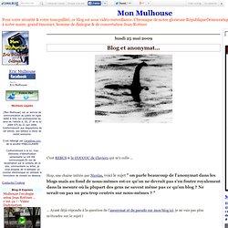 Blog et anonymat…