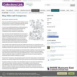 Blog: Ethics and Transparency