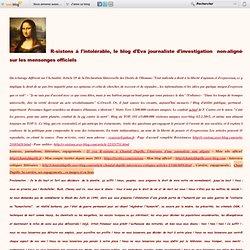 Le blog d' Eva, R-sistons à l'intolérable