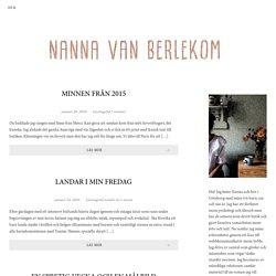 Blog Feed – Nanna van Berlekom