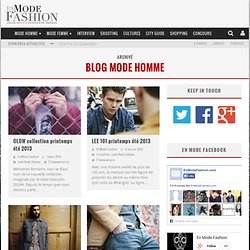 Blog Mode Homme | En Mode Fashion.com