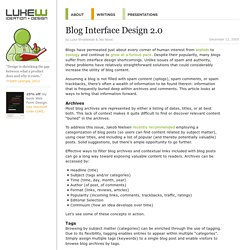 Blog Interface Design 2.0