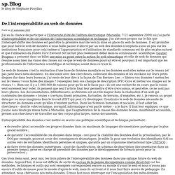 De l'interopérabilité au web de données — sp.Blog - le blog de S