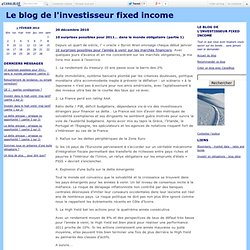 Blog de l'investisseur fixed income