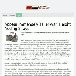 Buy Height Adding Shoes to Look Immensely Tall Height