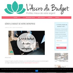 Blog - L'Accro du Budget