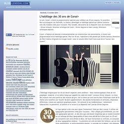 L'habillage des 30 ans de Canal+