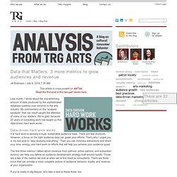 TRG blog: 3 more metrics to grow audiences and revenue