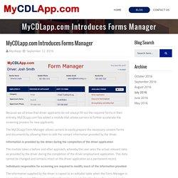 MyCDLApp