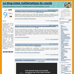 Le blog-notes mathématique du coyote