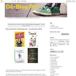 Dé~Blog Pas: Prix du Roman Contemporain