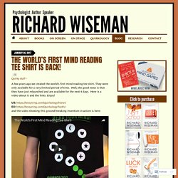 Blog « Richard Wiseman