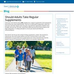 Should Adults Take Regular Supplements