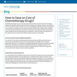 How to Save on Cost of Chemotherapy Drugs