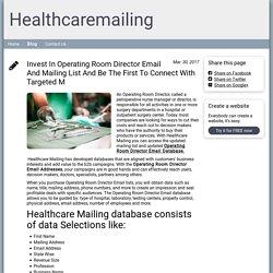 Blog - healthcaremailinglist.simplesite.com