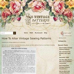 Blog - So Vintage Patterns