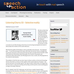 Blog – Speech in Action