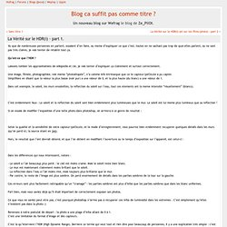 Blog ca suffit pas comme titre ? » La Vérité sur le HDR(i) - part 1.