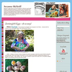 BLOG.SUZANNEMCNEILL.COM: Zentangle® Eggs - oh so easy!
