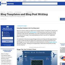 Blog Templates – Blog Post Writing