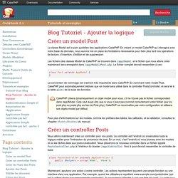 Blog Tutoriel - Ajouter la logique