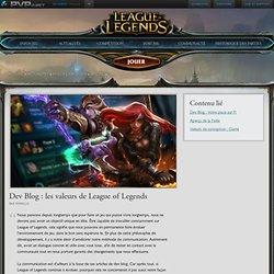 les valeurs de League of Legends (Dev Blog)