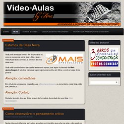 Video Aulas ByAna