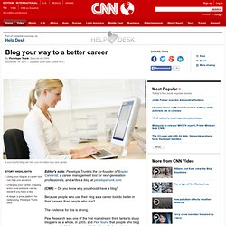 Blog your way to a better career