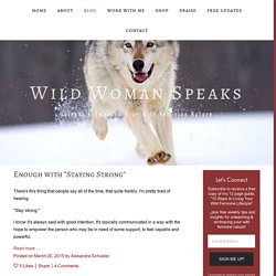 Blog — Wild Woman Speaks